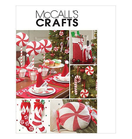 McCall's m5262 PEPPERMINT CHRISTMAS DECORATIONS Sewing Pattern