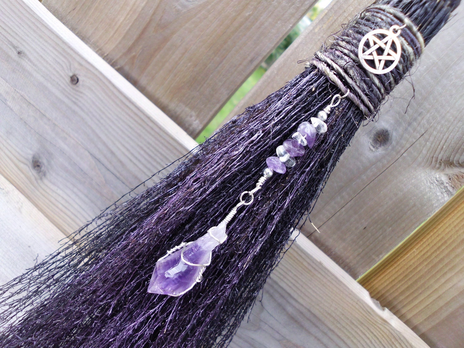 Witches altar besom wall decor for protection by for Altar wall decoration