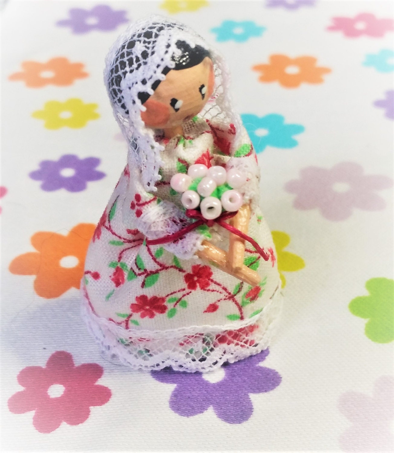 Handcrafted OOAK wooden Dillydolly  Amelia Haversham  collectable dolly or dolls house toy
