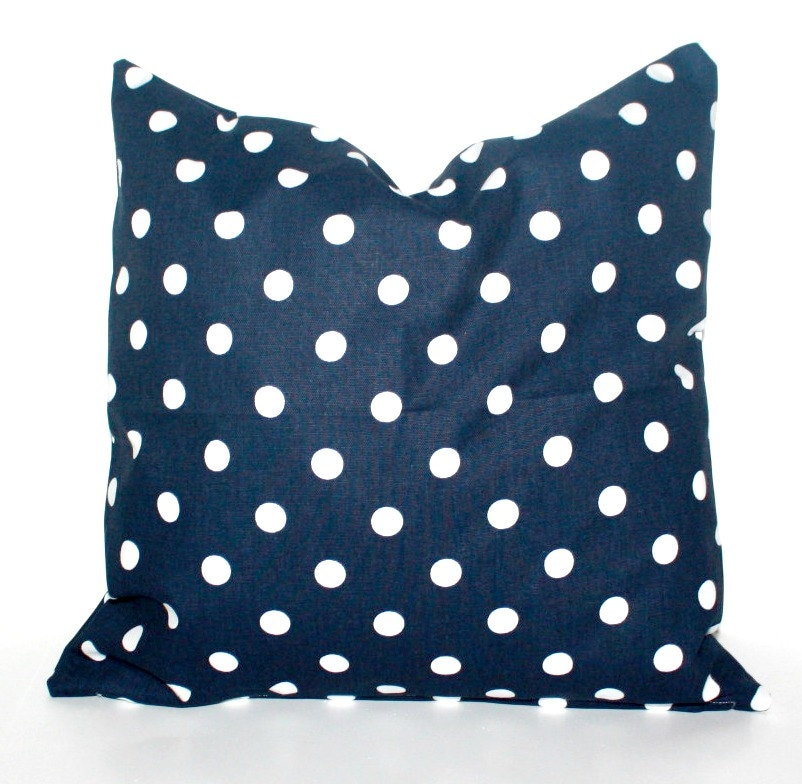 20 By 20 Decorative Pillow Covers : Items similar to DECORATIVE PILLOW Covers - THROW Pillows - 20 x 20 inches - Navy Blue Dots on Etsy