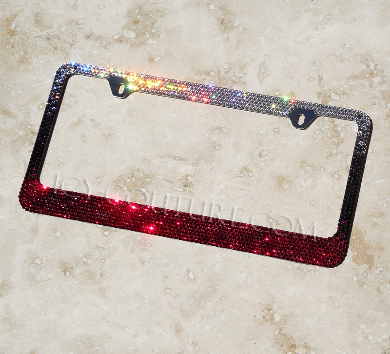 Swarovski crystal license plate frame