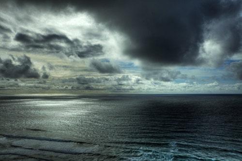 Ocean photography  Storm Photography Landscape Photography Fine Art Photography Blue Silver Storm Grey 4x6 Ocean Print Water Photograph - SeeWorldThruMyEyes