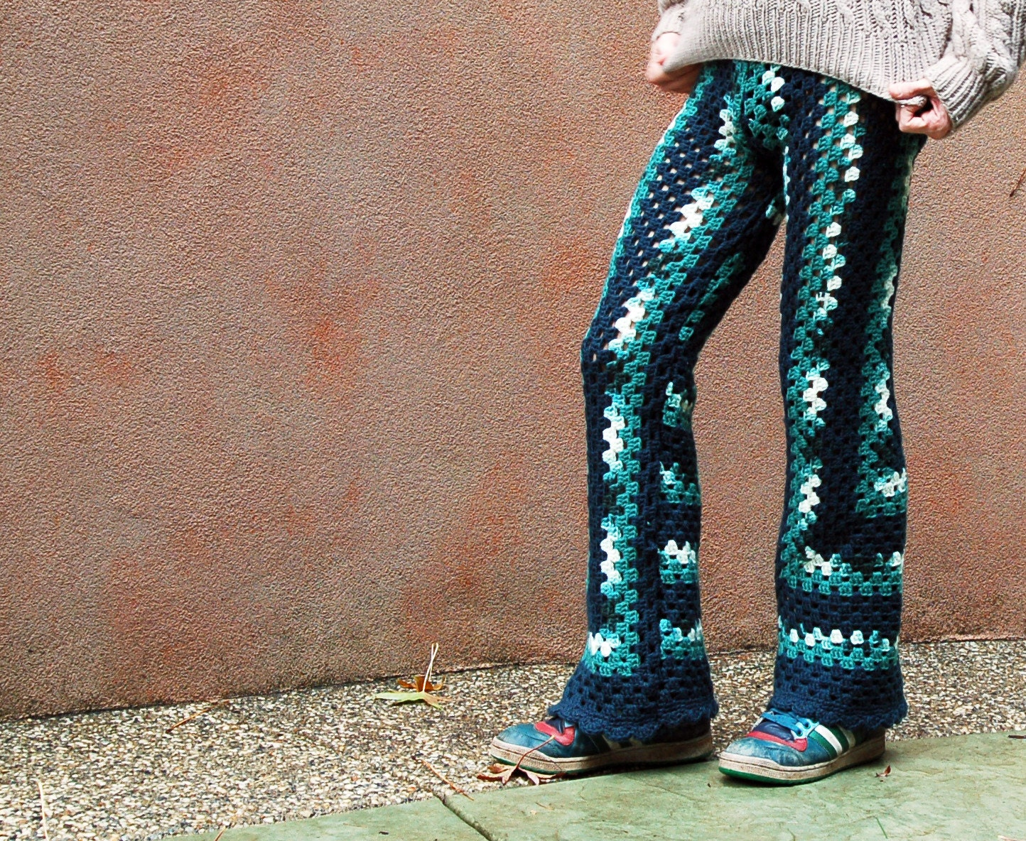 Crochet Pattern Yoga Pants : Forest Green Crochet Pants by LordvonSchmitt on Etsy