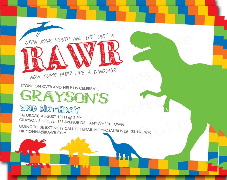 Dinosaur Invites as perfect invitation template