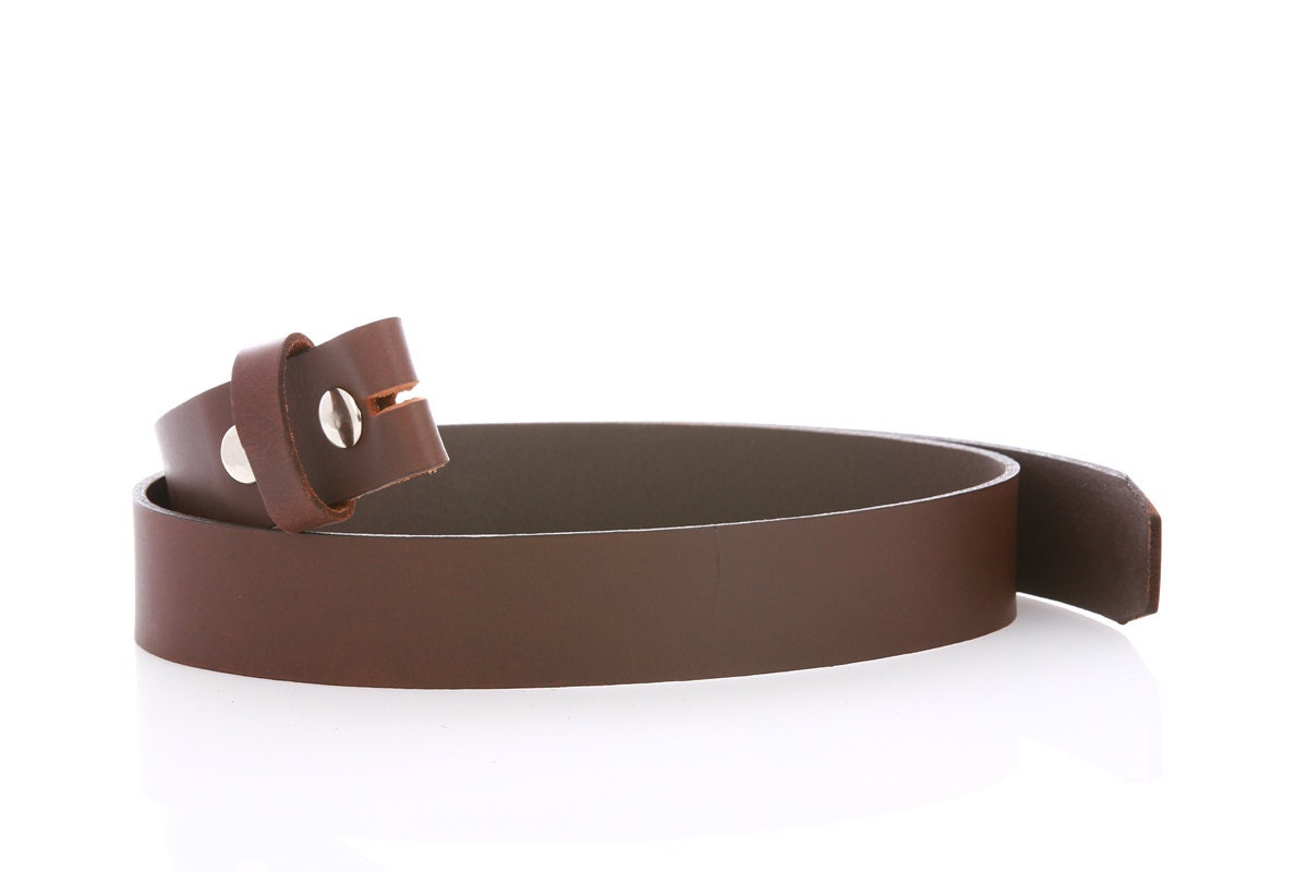 handmade brown blank leather belt with snap on by neoraybelts