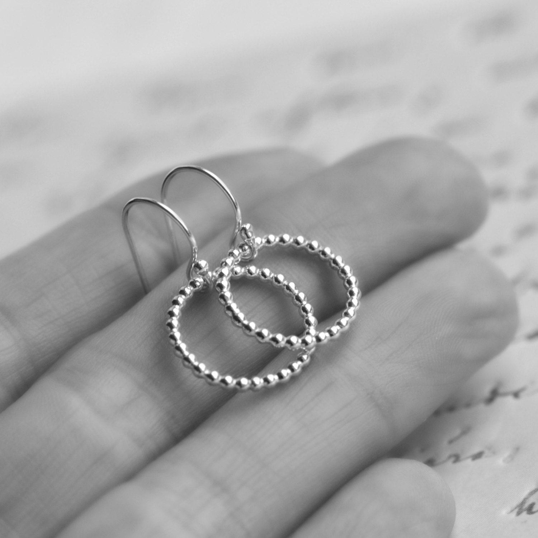 Small Hoop Earrings Silver Hoop Earrings Circle Earrings Minimalist Hoop Earrings Gift for Her Sterling Silver Earrings  Blissaria