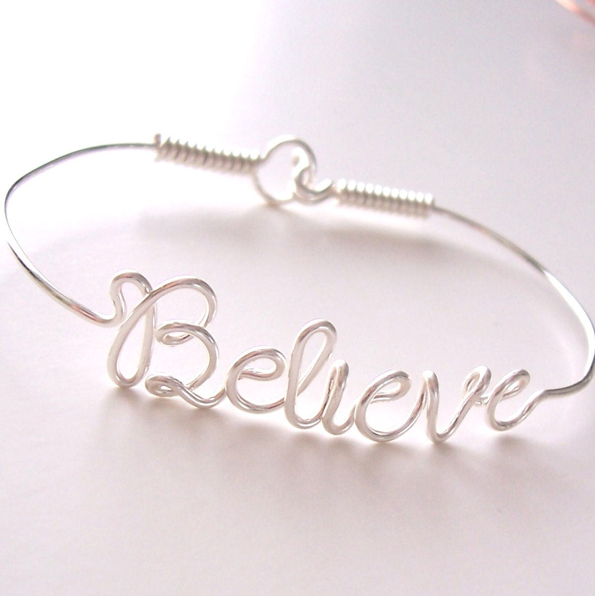Wire Name Bracelet with your favorite NAMEs or WORDs . Name Bracelet . Personalized Bracelet . Wire Name Jewelry - wiremajigs