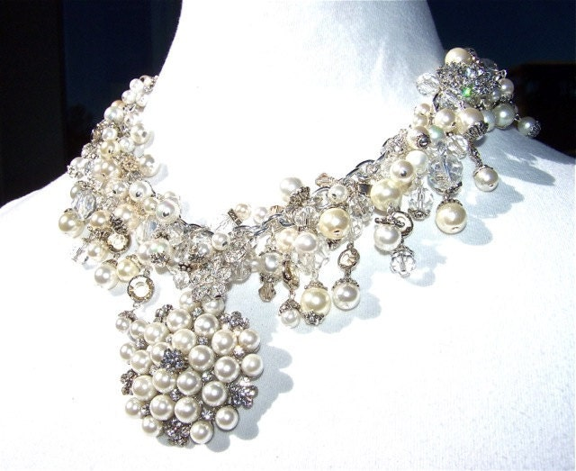 Wedding Necklace RESERVED  Please Do Not by dabchickvintagegems