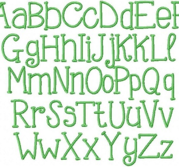 Inch handwriting embroidery font file by herringtondesign