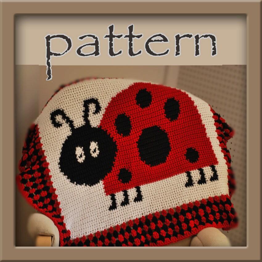 Crochet Afghan Patterns That Look Like Quilts : PATTERN Ladybug Afghan Blanket Crochet by HookaholicPatterns