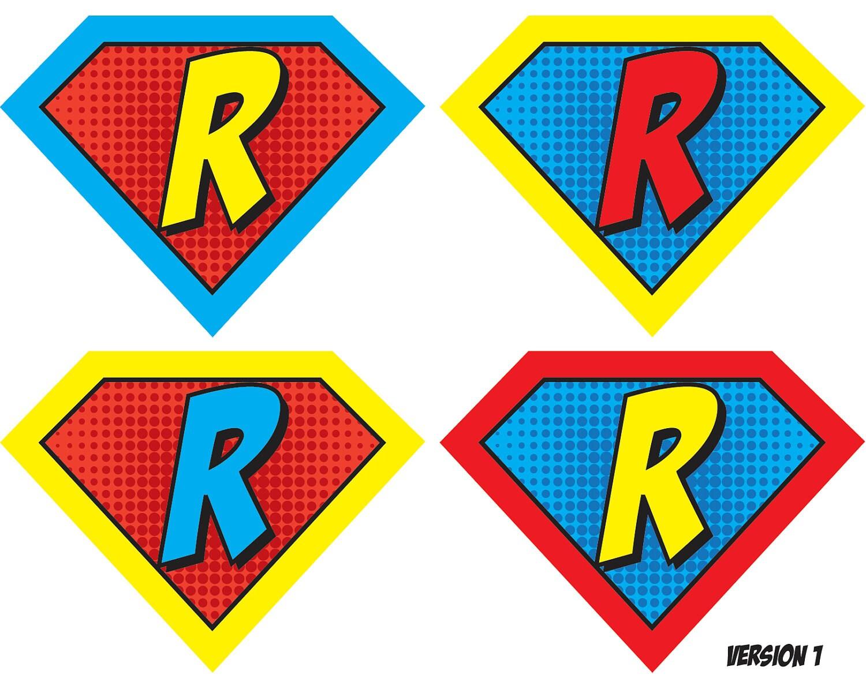Universal image regarding superhero letters printable