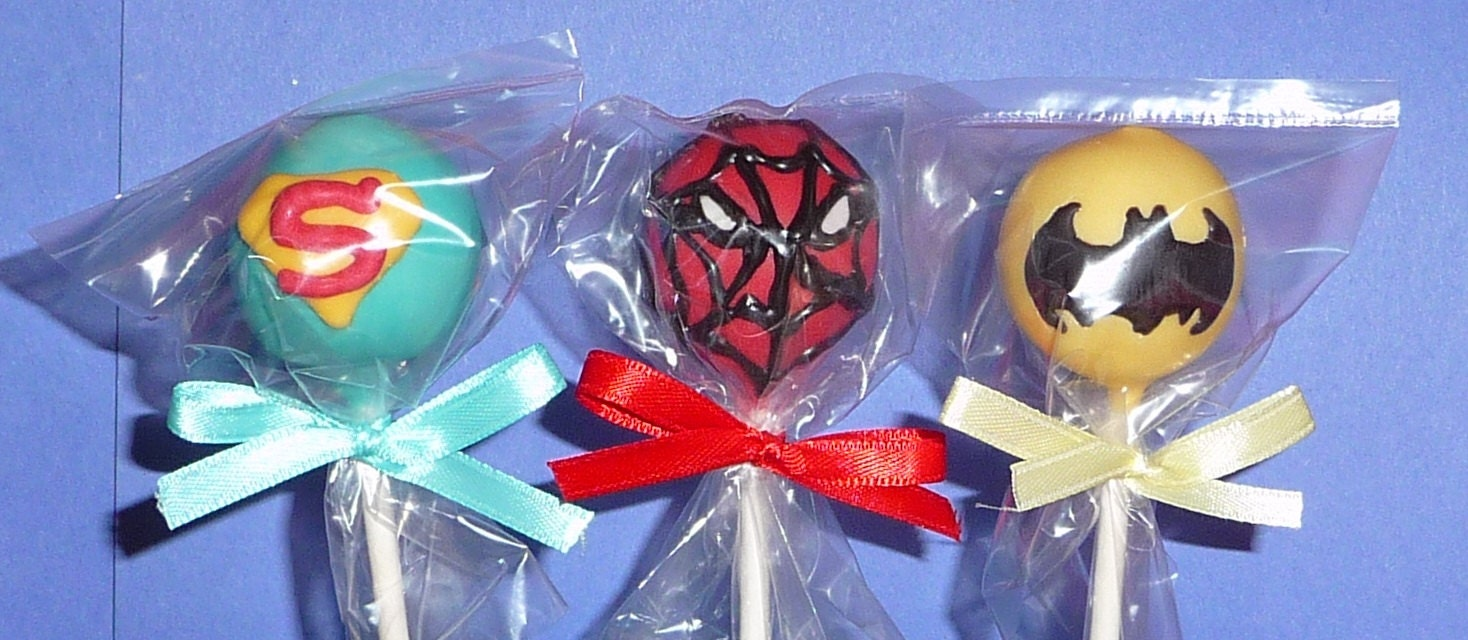 IRON MAN Cake Pops Super Heroes Cake Pops  Etsy