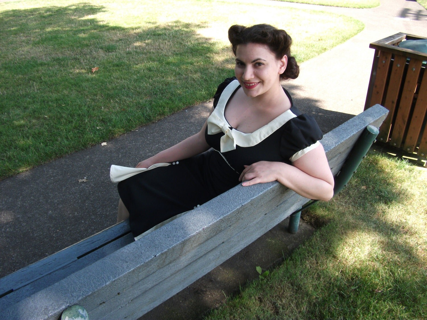 Pin Up Dress 1940s or 1950s Rock billy Dress Made to Size