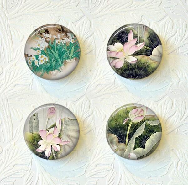 Magnet Set  Floral Buy 3 Get 1 Free  164M - SunnysGiftShop