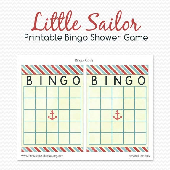 Baby Shower Bingo Card, Printable Shower Game, Party Game, Baby ...