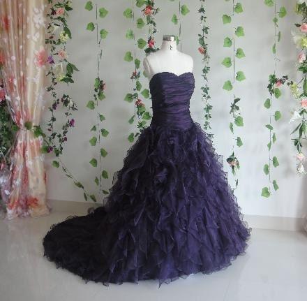 Purple Wedding Dress Custom Made