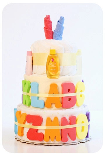 ABC Bath Time Boutique Style Diaper Cake