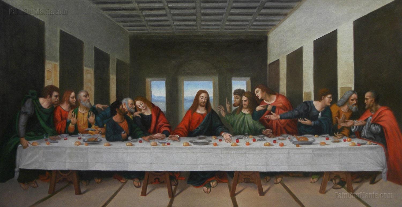 The Last Supper Leonardo da Vinci high quality by ... Da Vinci Last Supper High Resolution
