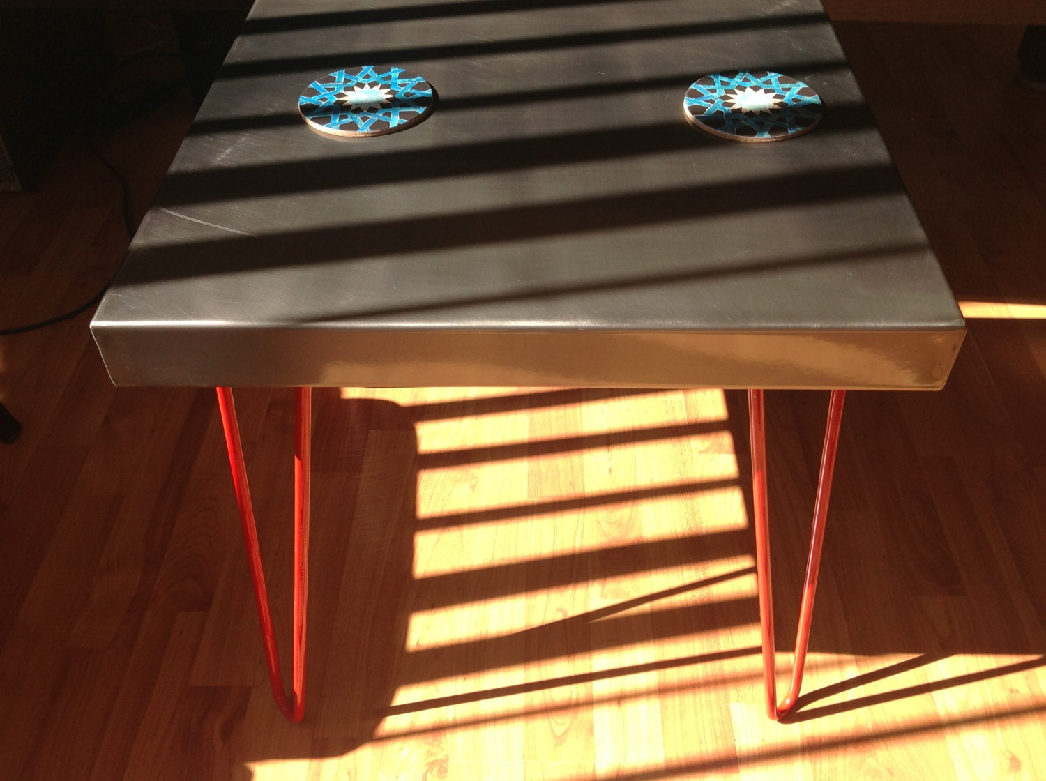 Steel Coffee Table - karabalasagun