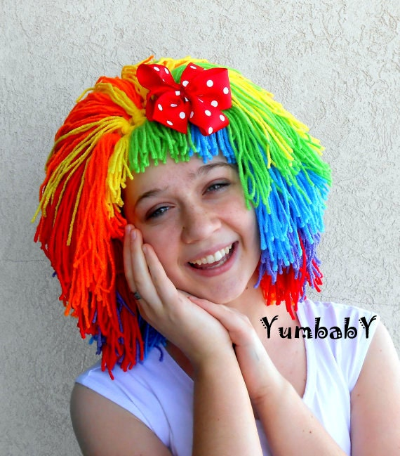how to make clown hair