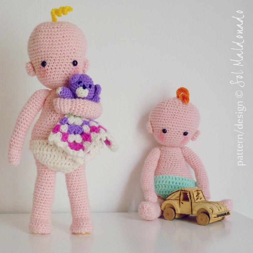 Crochet Pattern For Doll Diaper : Amigurumi Baby crochet pattern Benjamin doll babies by bySol