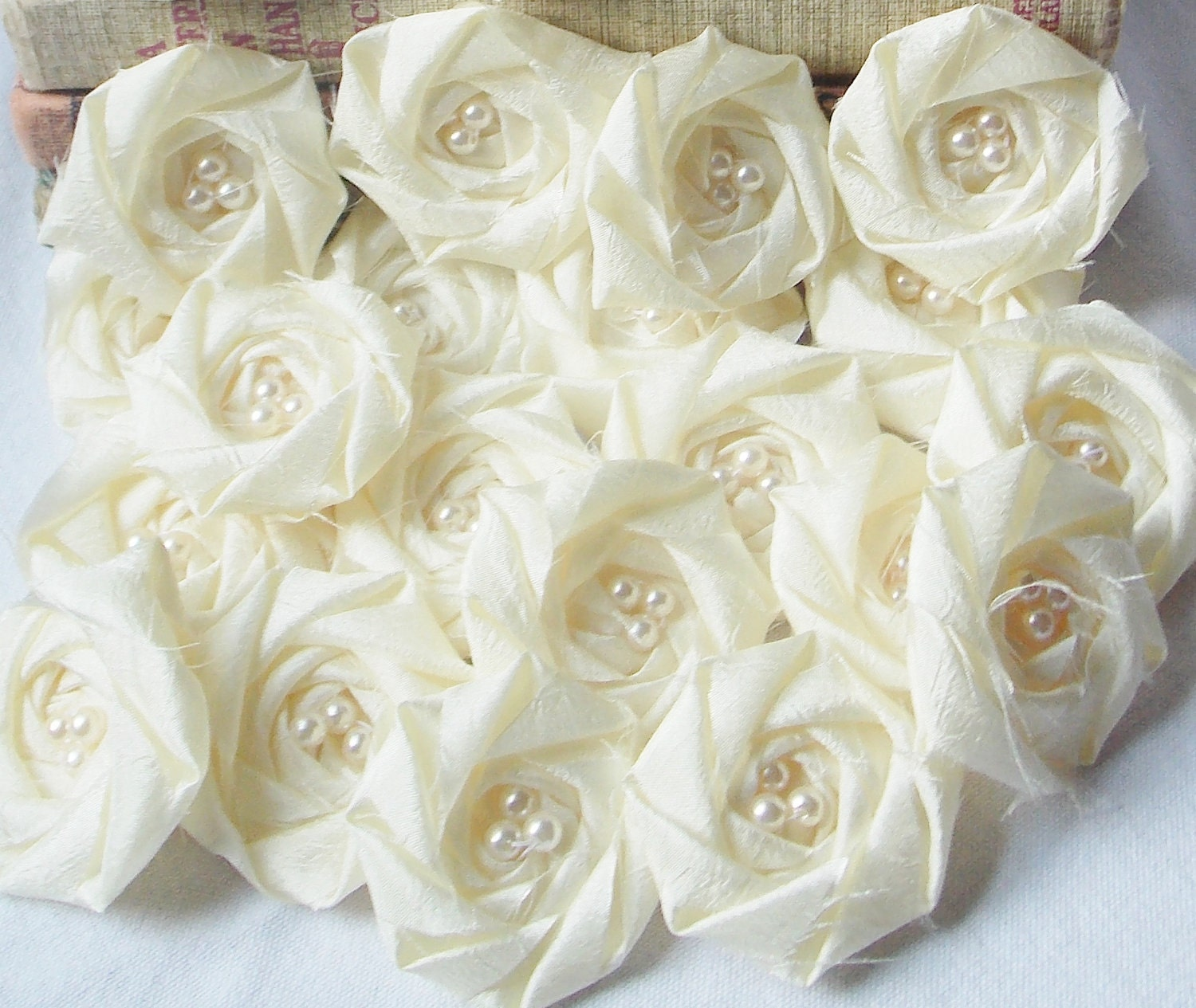 Bridal Flowers Wedding Flowers Ivory Wedding by bellerosedesigns