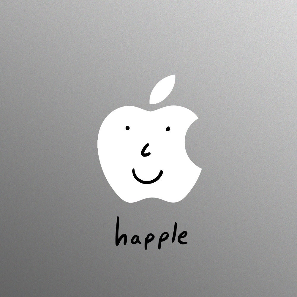 Happle Decal Laptop Sticker for Apple MacBook  Pro  Air