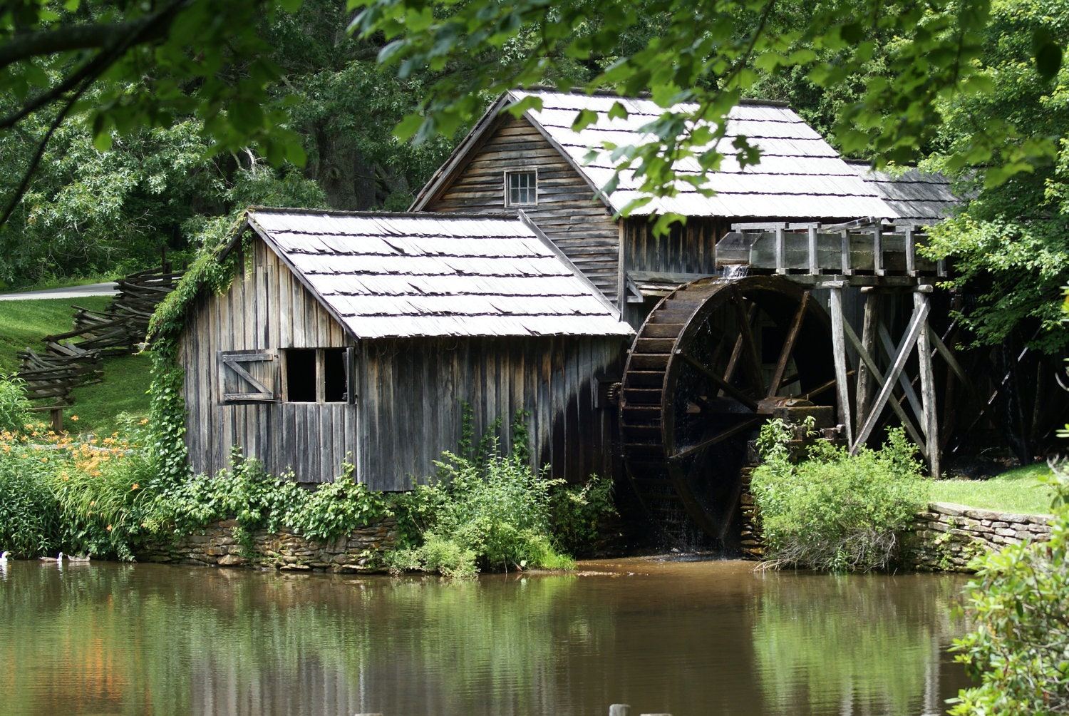 "Mabry Grist Mill, Landscape Photography, Historic, Army Veteran, Blue Ridge Parkway-2"" - HLRoperPhotography"