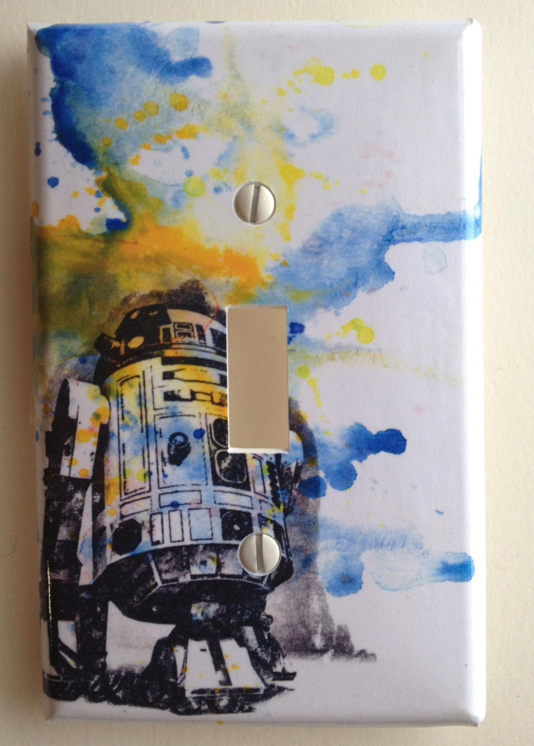 R2d2 Star Wars Decorative Light Switch Cover Plate By Idillard