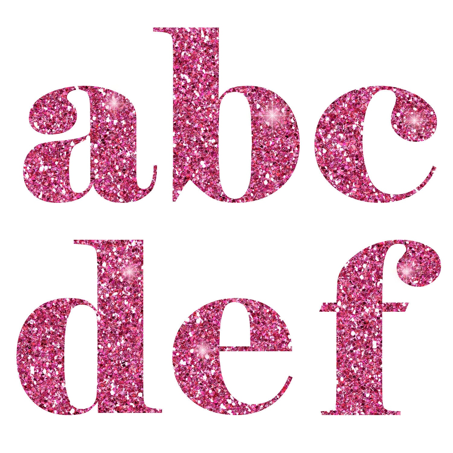 Image gallery sparkle letters for Pink glitter letters