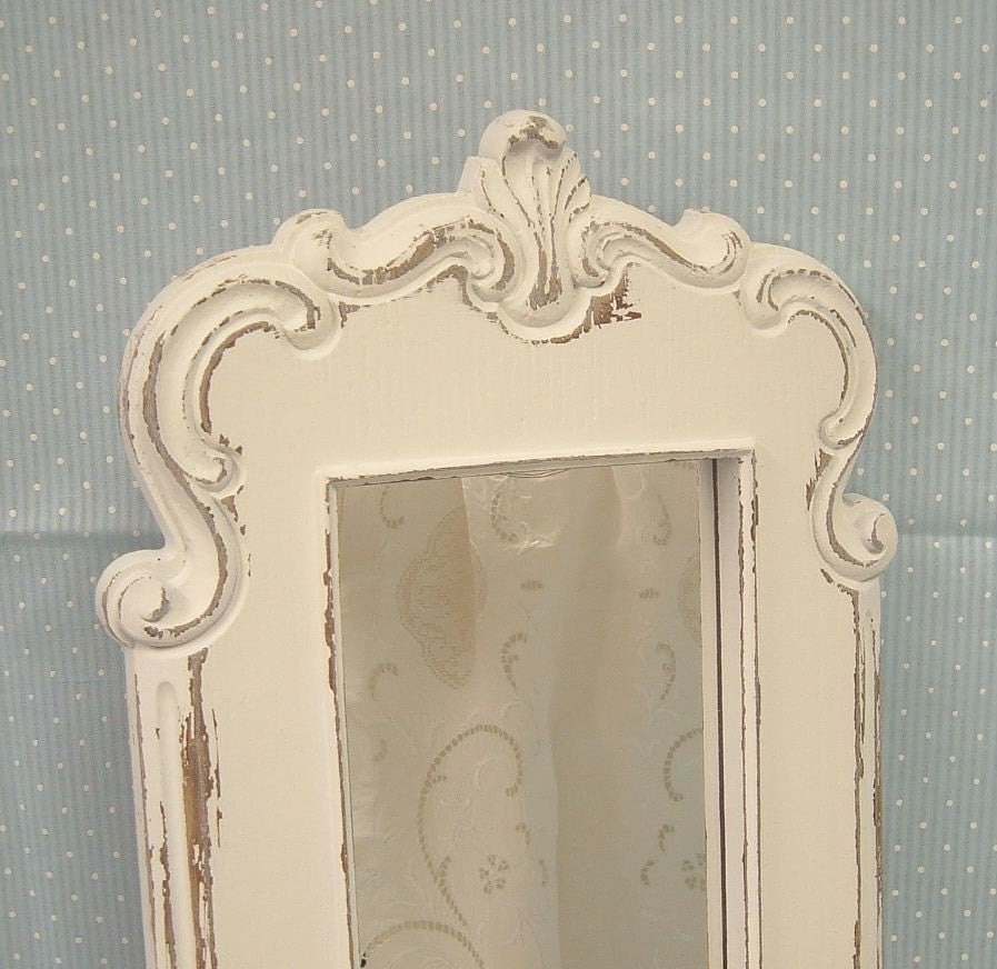 shabby chic white distressed ornate mirror by. Black Bedroom Furniture Sets. Home Design Ideas