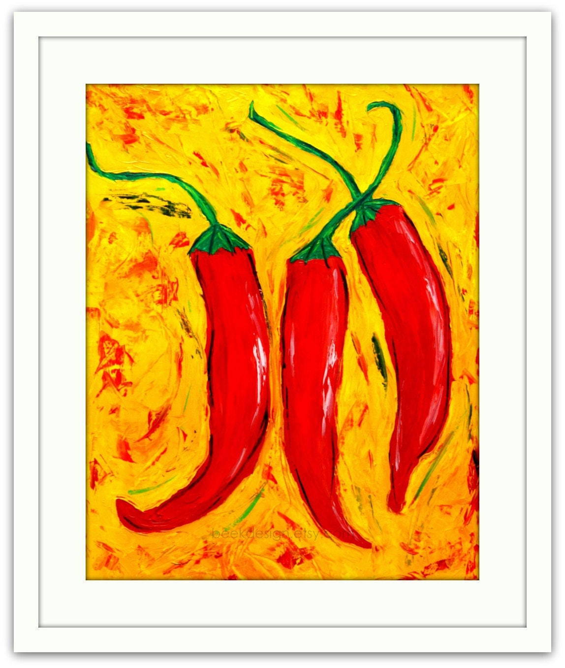 Items similar to kitchen art print home decor art for Red kitchen wall art