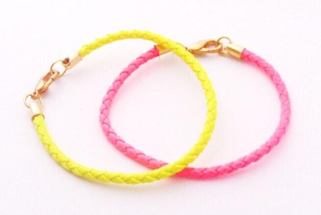 Neon Yellow Friendship Bracelet