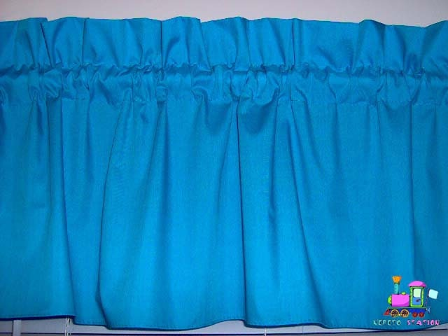 Solid Turquoise Valance Curtain Window Treatment By Babycribskirts