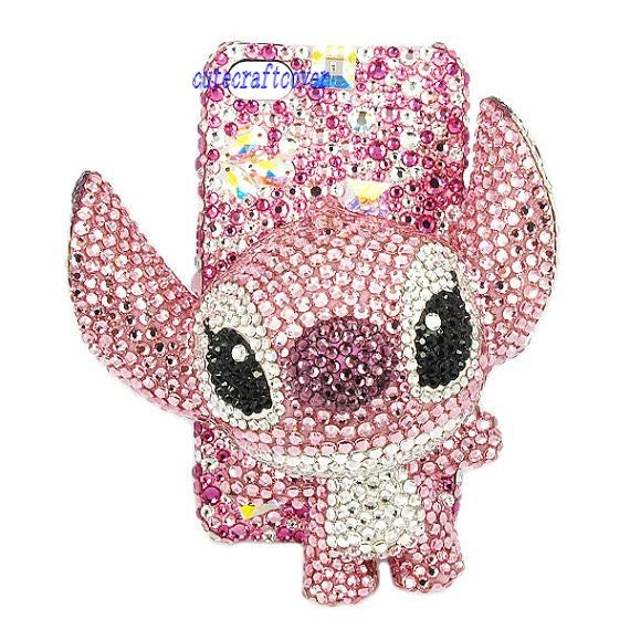 stitch iphone 4 case 3D swarovski iPhone case iPhone5 case iPhone 5 ...