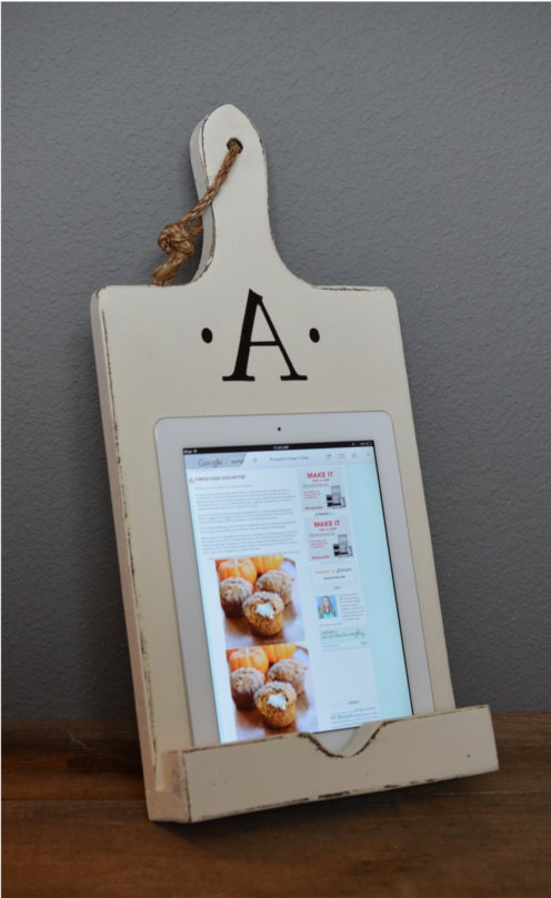 wood ipad stand cutting board style by rchristopherdesigns on etsy