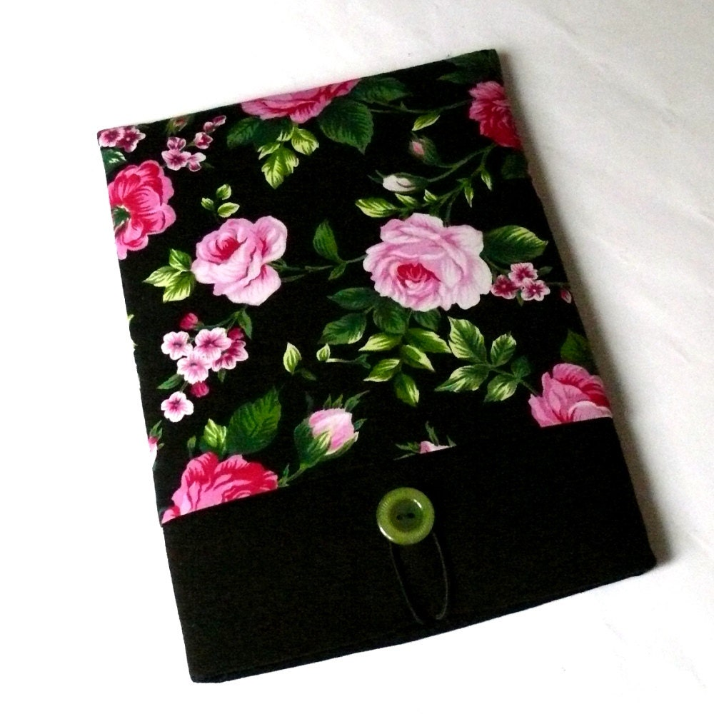 11 inch Laptop Fabric Case Sleeve Padded MacBook Air 11.6 Case Lenovo Yoga HP Vaio Case  SUPERIOR Shock Absorbent Foam Padding  Roses