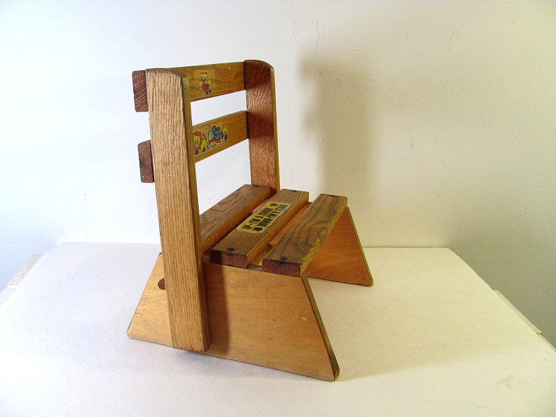 Vintage Wooden Step Stool And Child 39 S Chair By