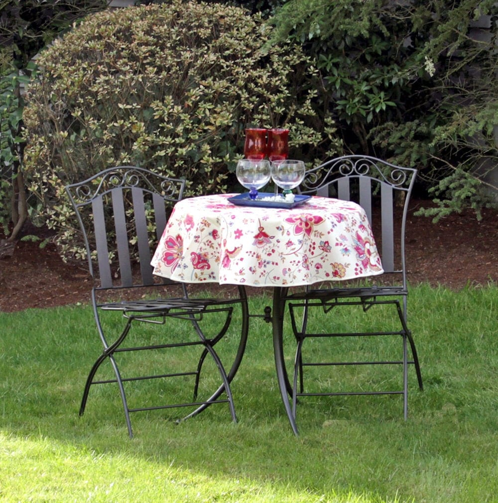 Small Round Outdoor Tablecloth Flowers In By SoleildeProvence