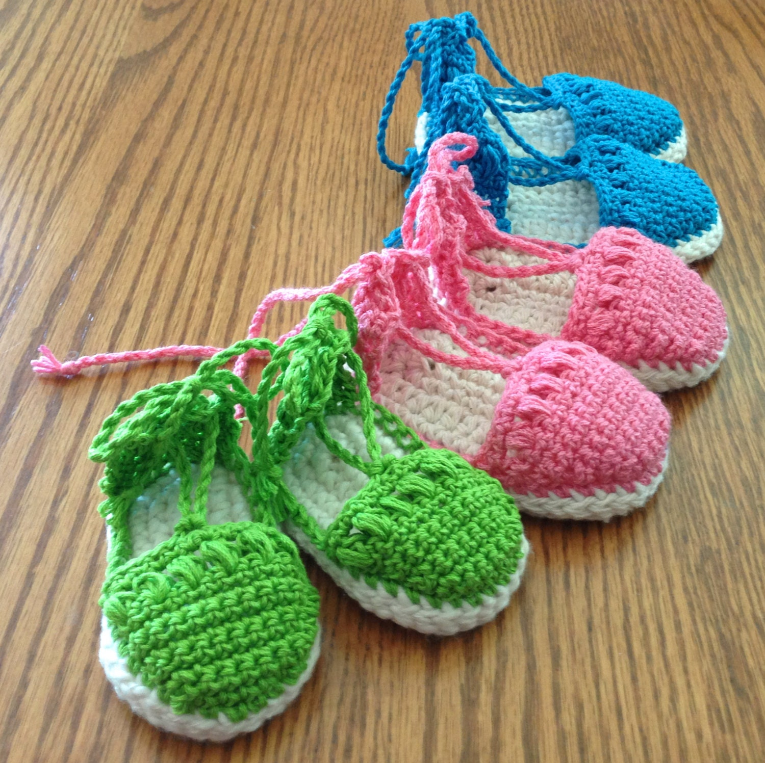 Baby Booties Sandals Espadrilles Crochet by ThePatternParadise