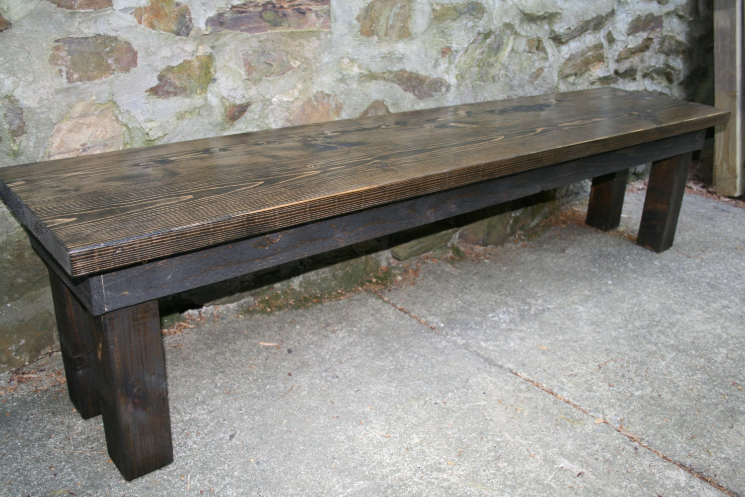 Rustic Wooden Bench By Tipsyfish On Etsy