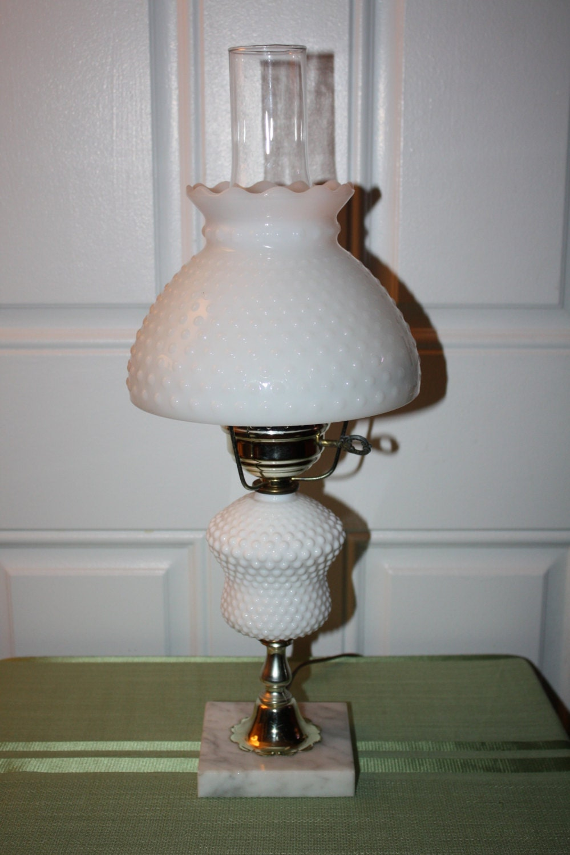 items similar to vintage milk glass hurricane lamp