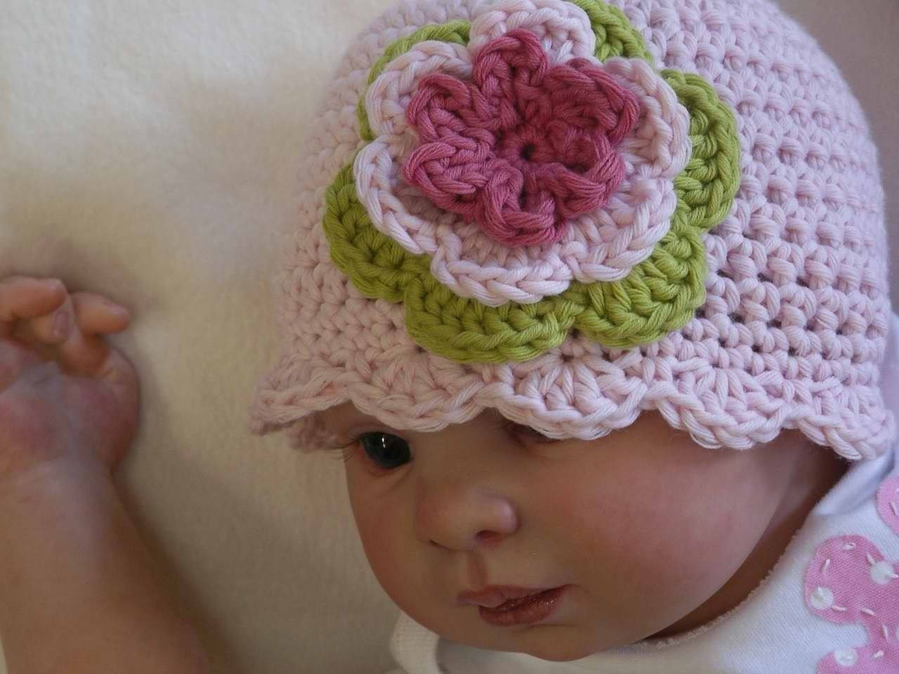 Easy Peasy Crochet Hat Patterns : Crochet Hat Pattern Easy Peasy Shell Trim Baby by ...