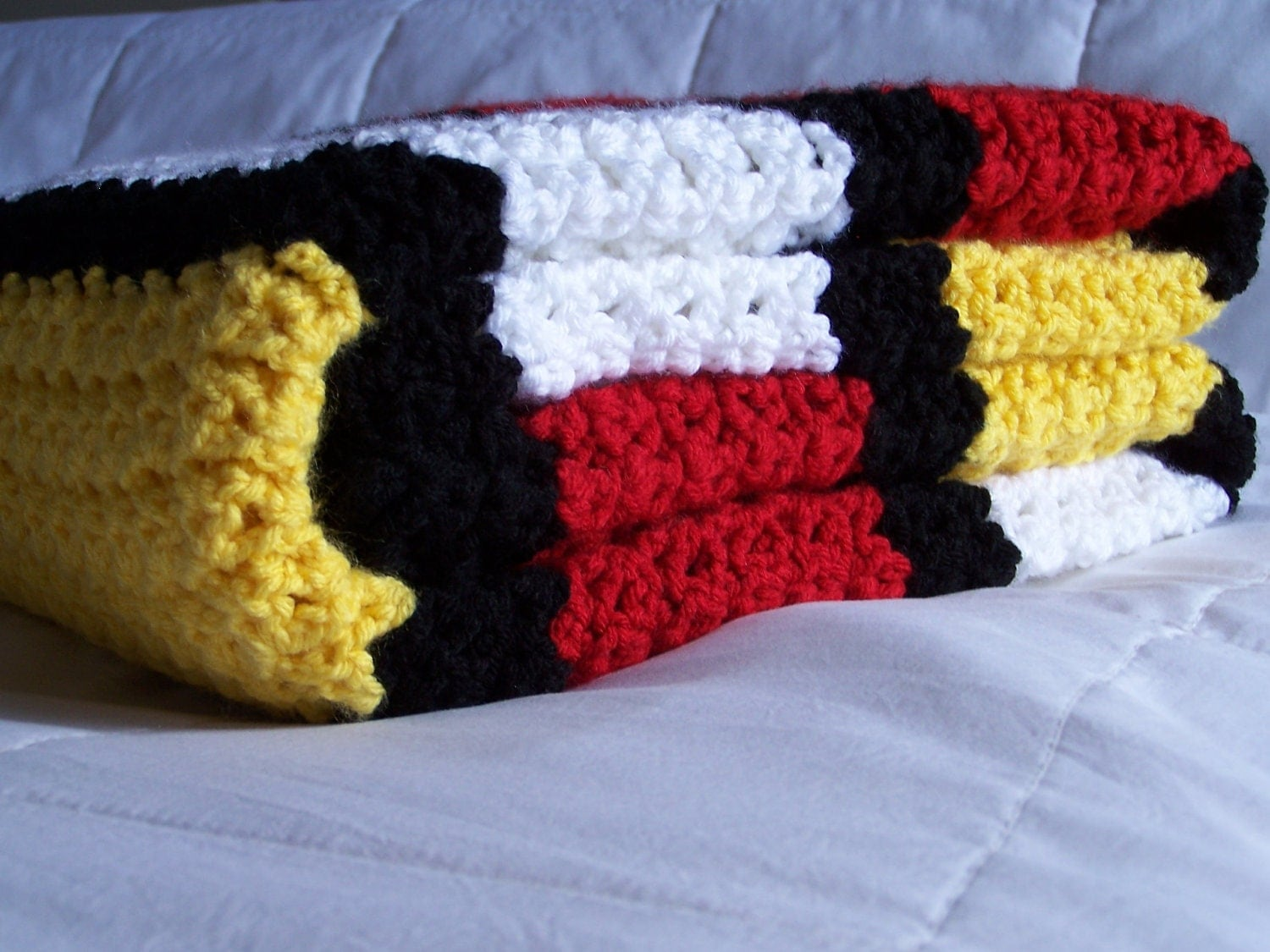 Mickey Mouse Crochet Afghan Pattern Free : Items similar to Mickey Mouse Blanket on Etsy