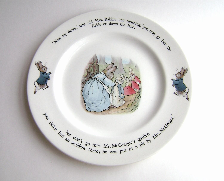 Vintage Beatrix Potter Wedgwood China Set By Oldauntsattic  sc 1 st  Castrophotos & Peter Rabbit Dinnerware - Castrophotos