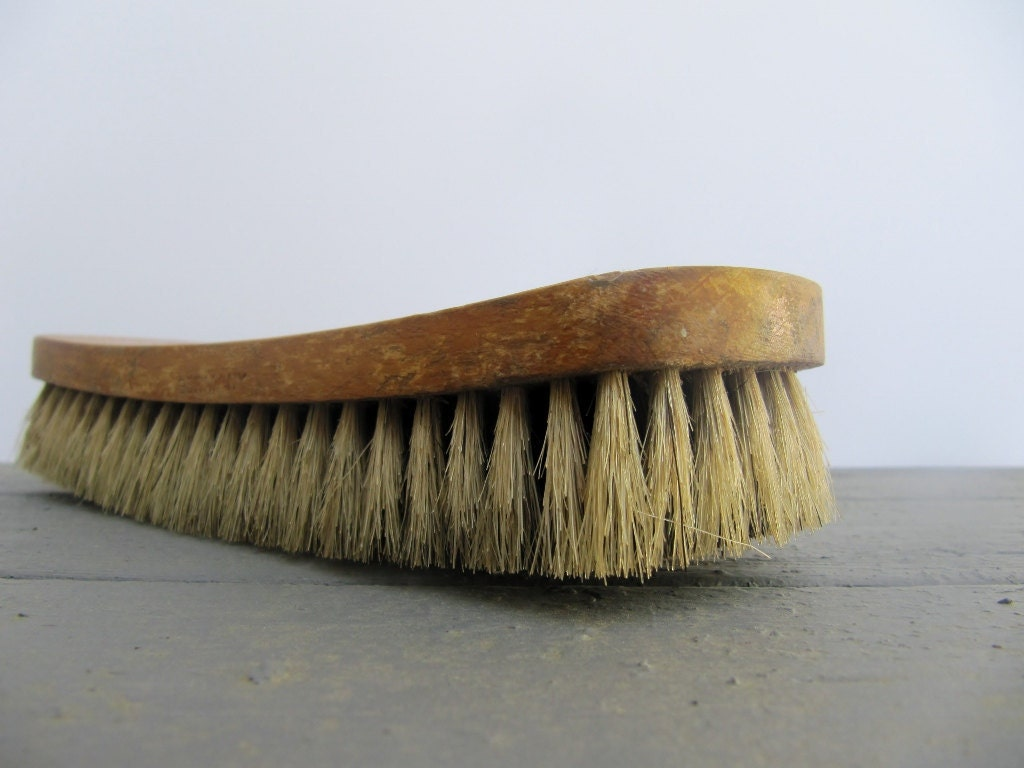 Vintage Rustic Antique Advertising Wooden Clothes Brush - Modred12