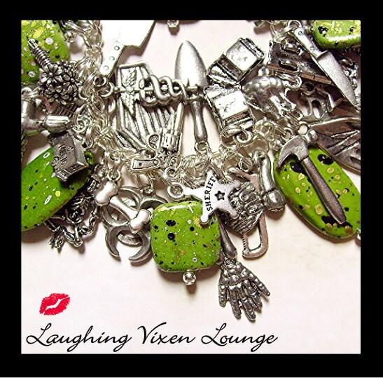 Zombie Bracelet - Horror Jewelry - Zombie Jewelry - Halloween Horror Bracelet - Zombie Charm Bracelet