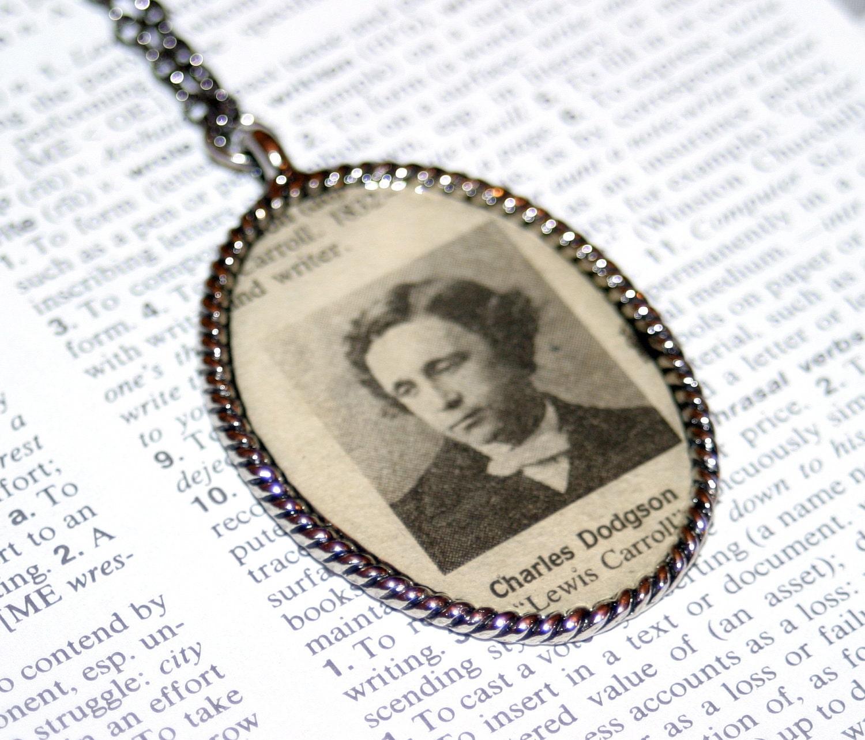 Collier Auteur Morte - Lewis Carroll (Charles Dodgson) - Collier littéraire