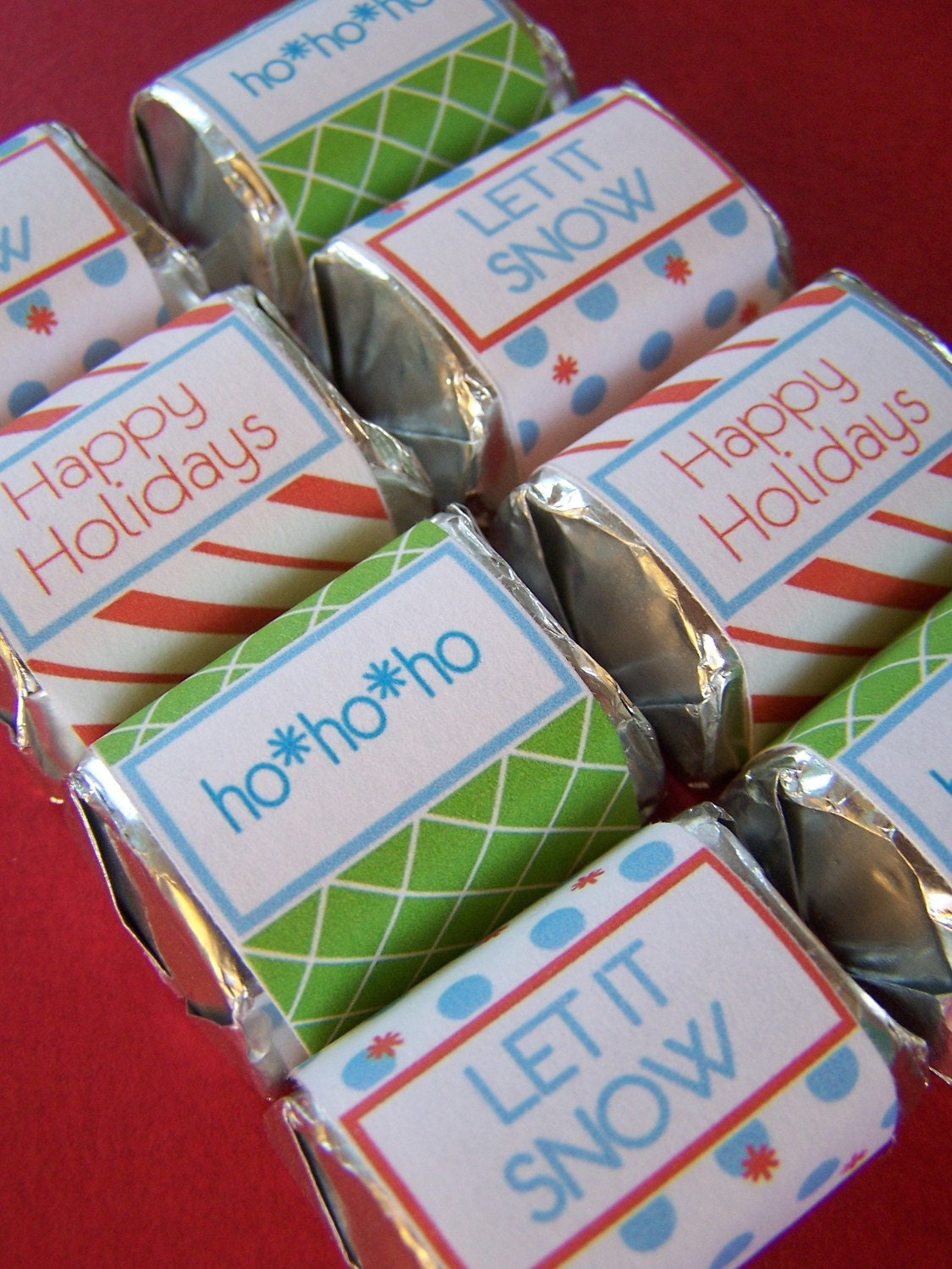 Christmas printable mini chocolate bar/candy wrappers -Classic version-
