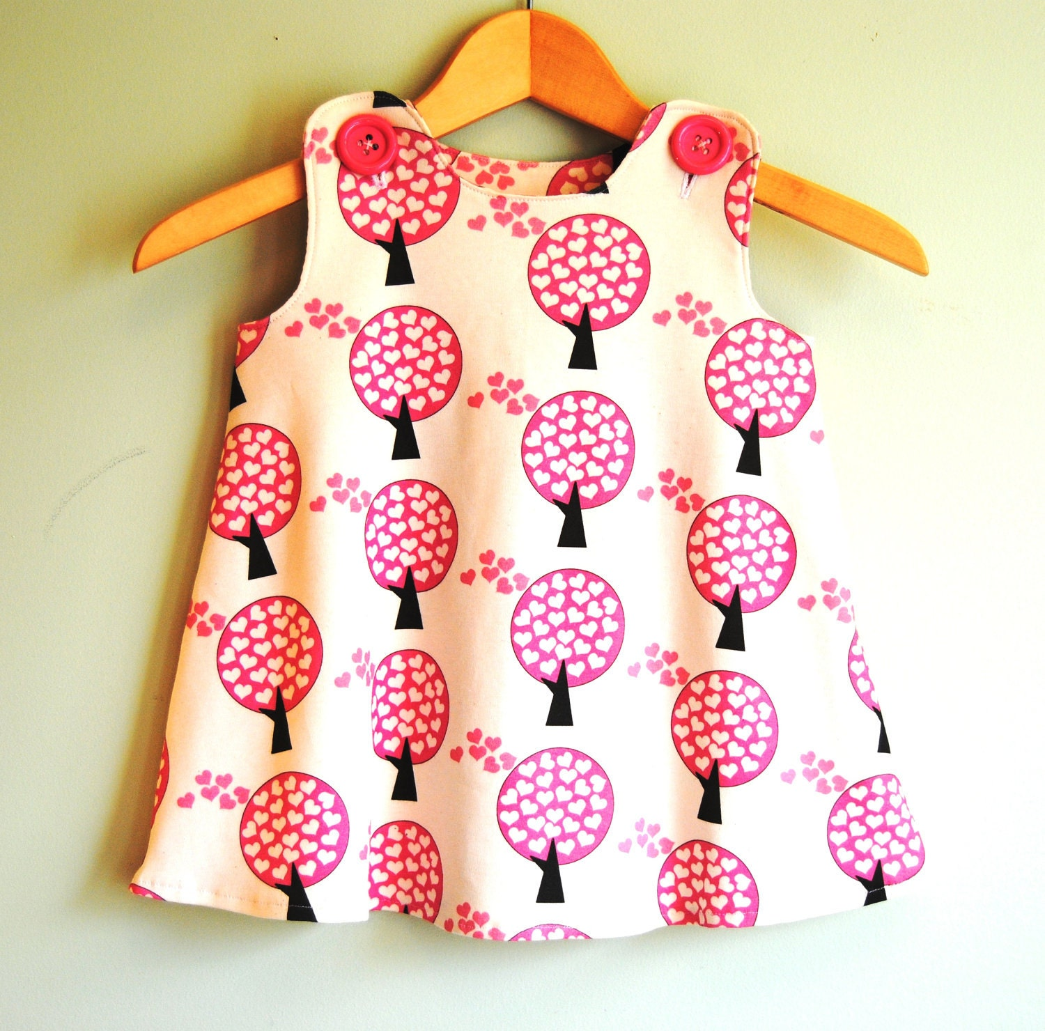 Organic Cotton Knit - Love Tree Baby Toddler Girl Dress - 3M through 2T